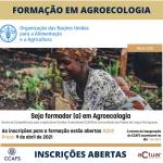 Seja formador(a) em Agroecologia! Inscrições abertas até 9 de abril de 2021